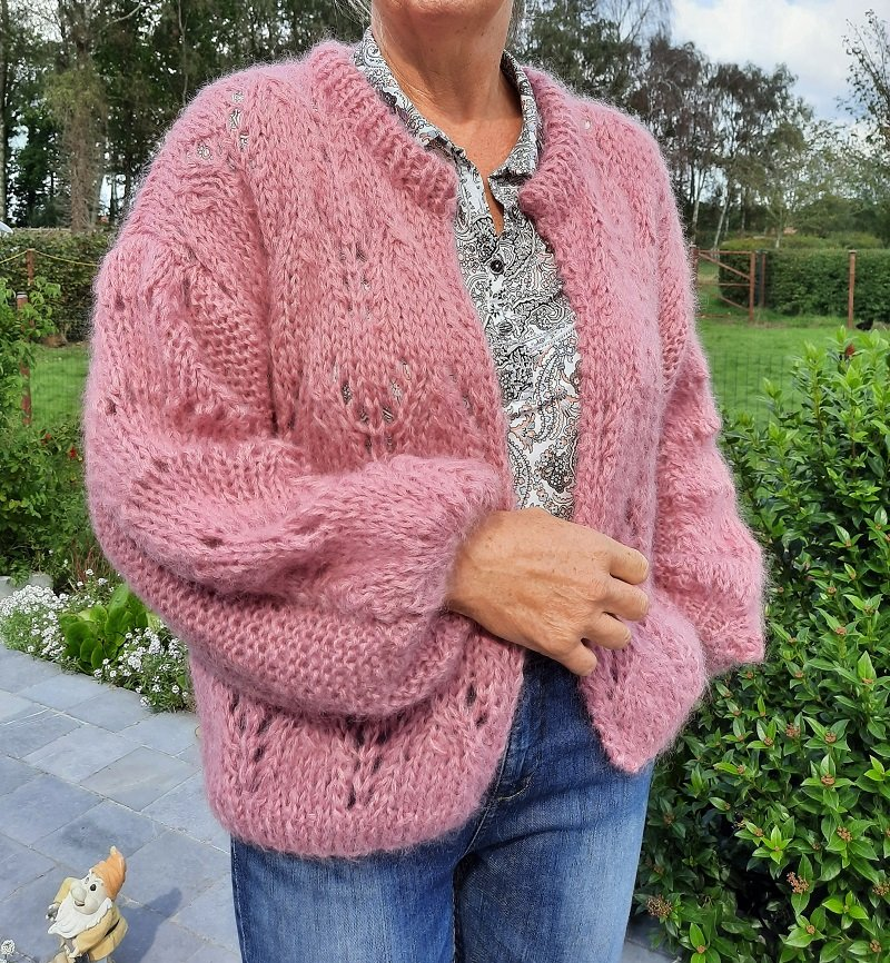 ITALY MOHAIR gc cardigan oudroos